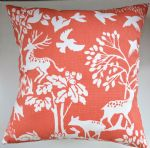 "Cushion Cover in Clarke and Clarke Vilda Woodland Animals Cinnamon 14"" 16"" 18"" 20"""